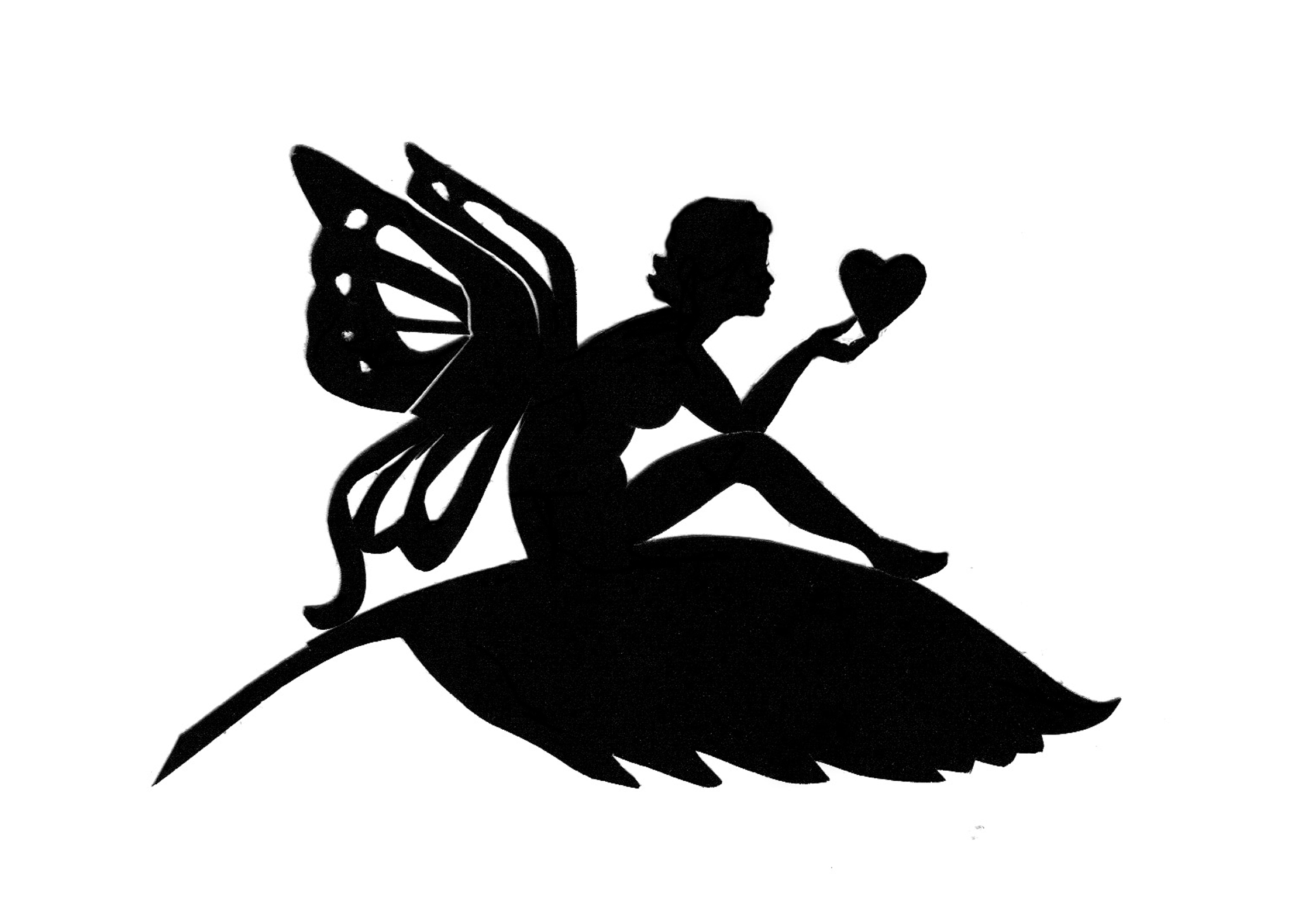 A Valentine Fairy Silhouette