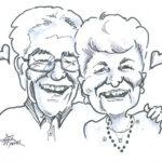 Anniversary Couple - Caricature