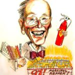 97th Birthday Caricature