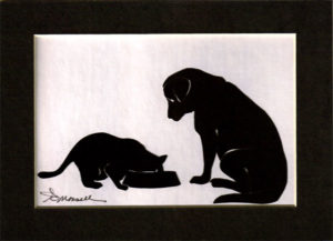 Cat and Dog<br />Silhouette
