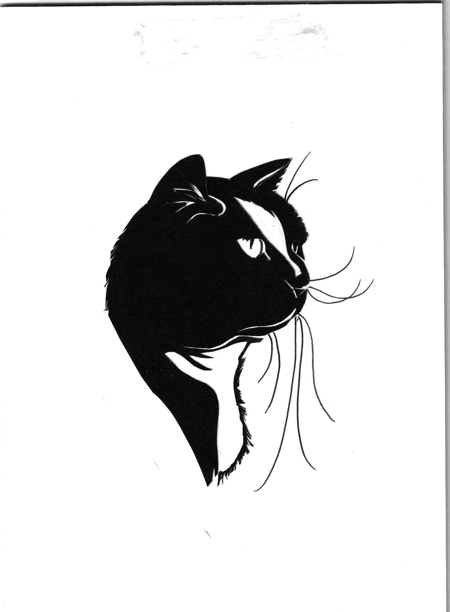 Cat Portrait Silhouette