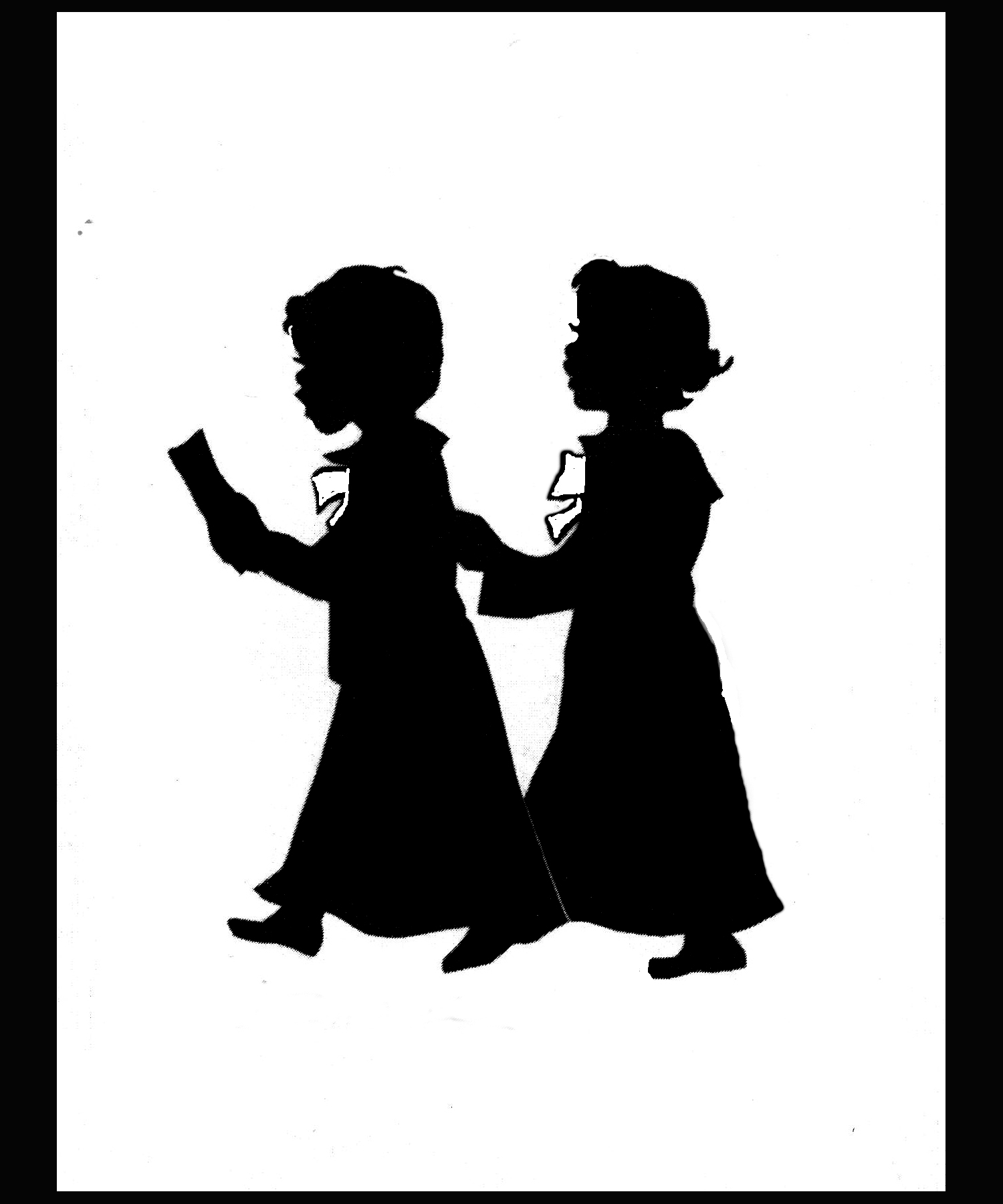 Two Choir Kids Silhouette