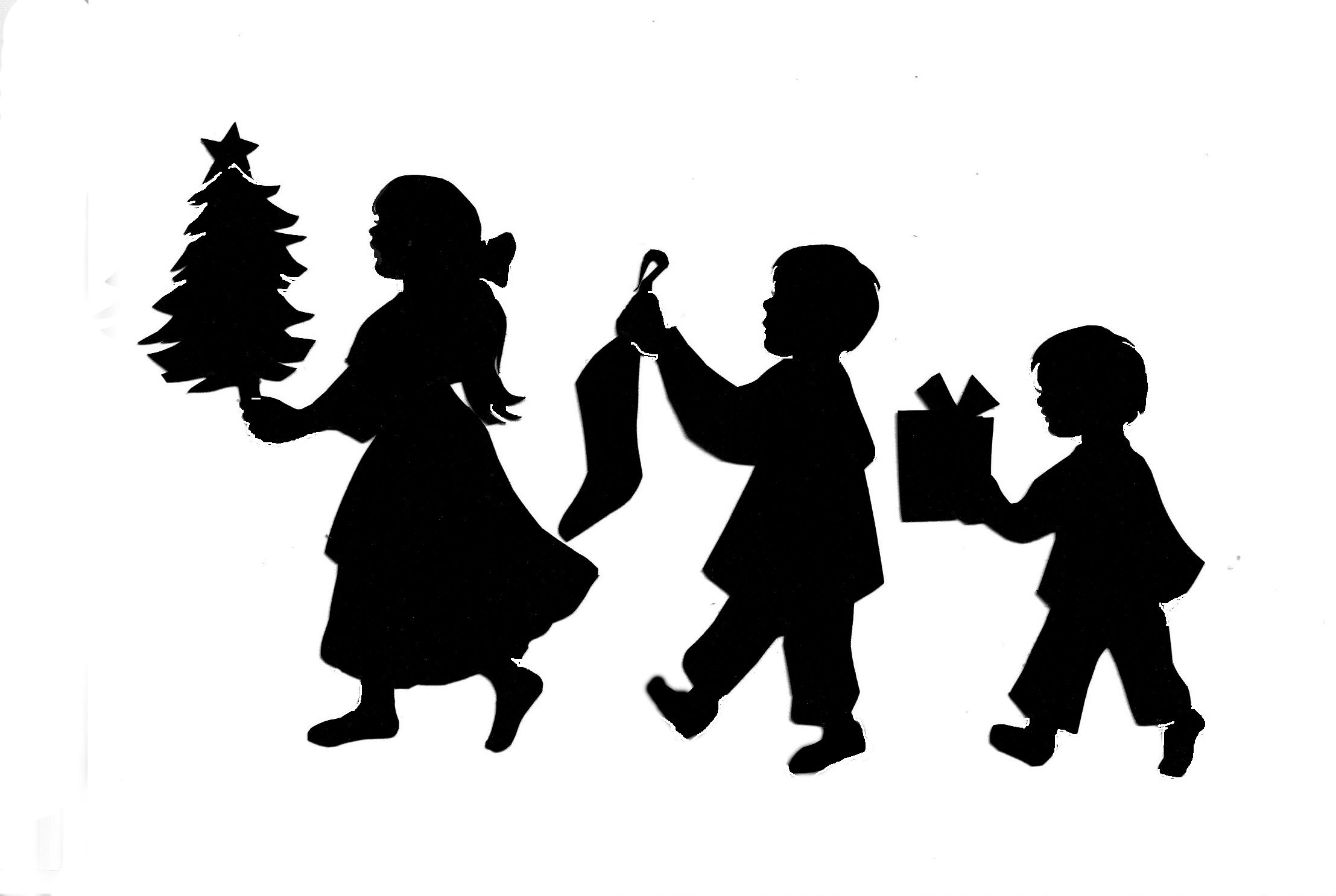 Christmas Kids Silhouette