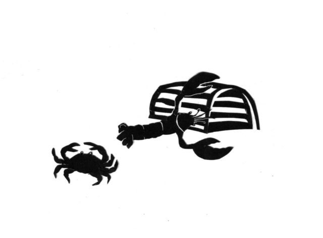 Crab and Lobster Silhouette