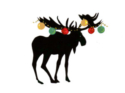 Decorated Moose Color Silhouette