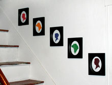 Framed Colored 8x10 Silhouettes