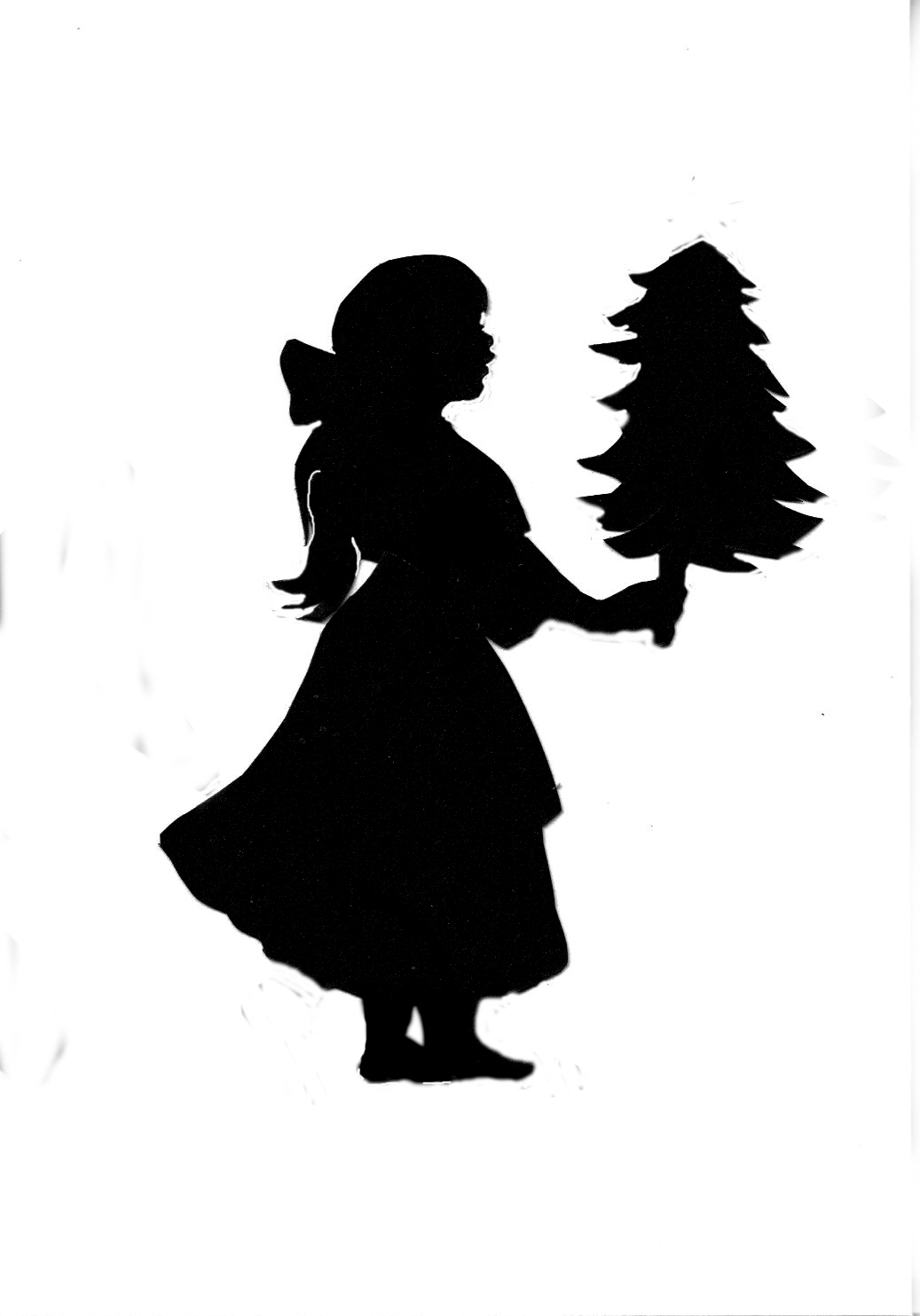 Girl with Tree Silhouette