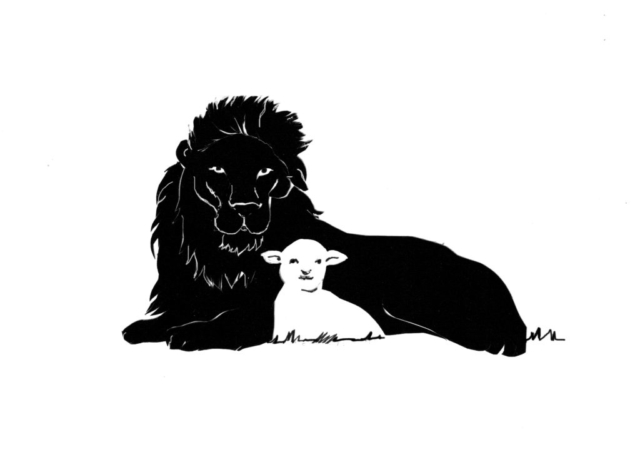 Lion and the Lamb Silhouette