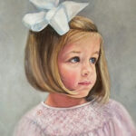 Little Girl with Bow - Oil