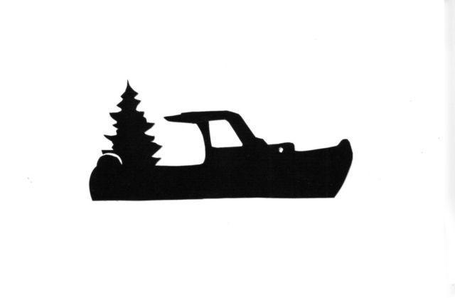 Lobster Boat with Tree Silhouette