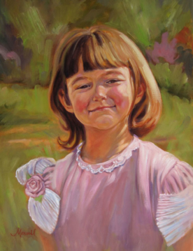 Portrait of a 6 Year Old Oil Portrait