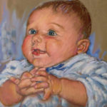 Portrait of an Infant Pastel Portrait