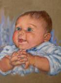 Portrait of an Infant - Pastel Portrait