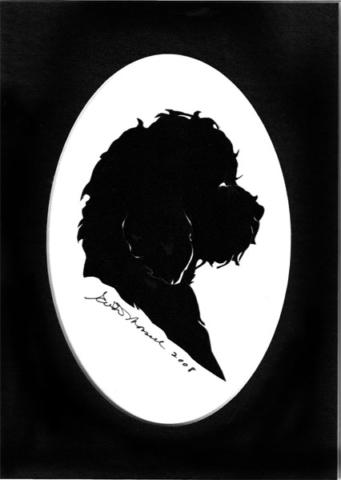 Shaggy Dog Silhouette