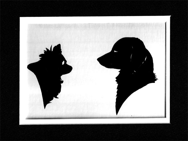 Two dogs Silhouette
