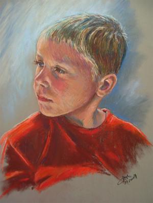 Portrait of Andrew Pastel Portrait