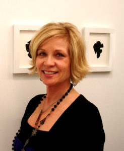 The artist at a Manhattan opening of her work in cut paper