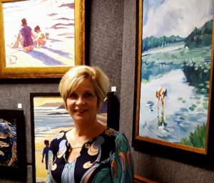 Artist at an Art Gallery