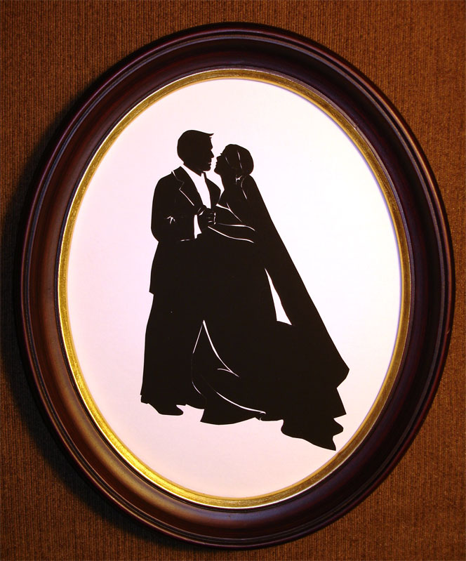 Bridal Couple Silhouette