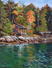 Cabin on the Damariscotta Acrylic
