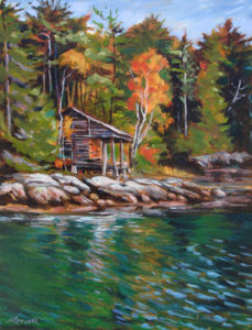 Cabin on the Damariscotta Acrylic