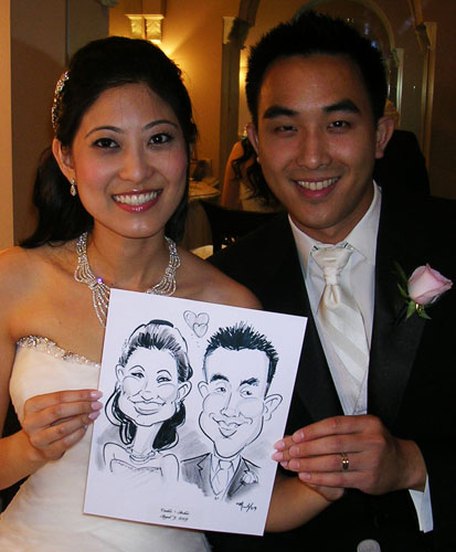 Wedding Couple Caricatures