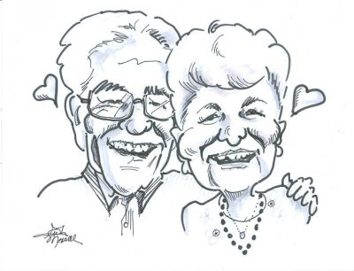Anniversary Couple - Caricature