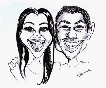 Couple Done at Wedding - Caricatures