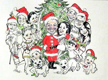 Christmas Party - Caricature