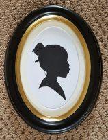 Silhouette Oval Frame