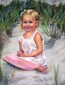 Portrait of Gracie - Pastel