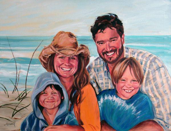 Family Portrait Pastel Portrait
