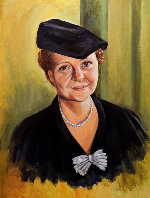 Frances Perkins Portraiture - Oil Portrait
