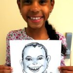 Girl with Her Caricature