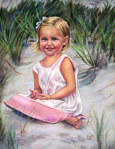 Portrait of Gracie Pastel Portrait