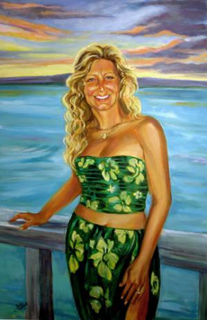 Marsha (1955-2006) Oil Portrait