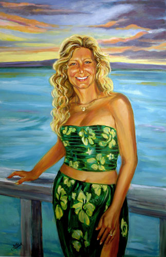 Marsha (1955-2006) Oil Portrait