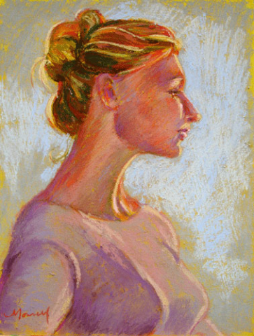 Bathed in Gold Pastel