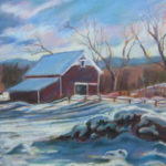 New England Barn - Pastel Over Acrylic on Prepared Paper