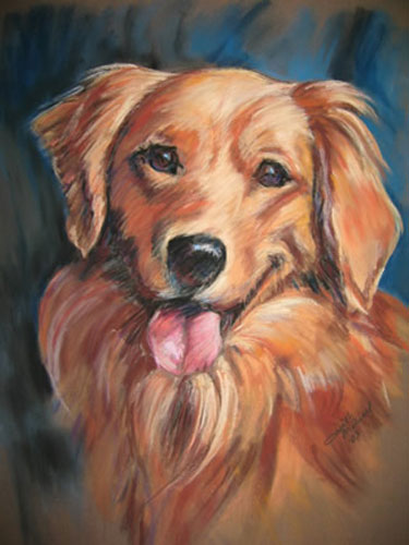 Amy Pastel Pet Portrait