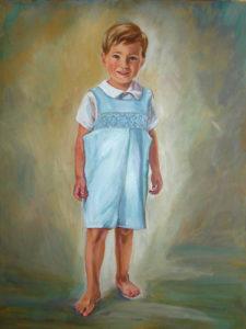 Portrait of Small Boy - Oil Portrait