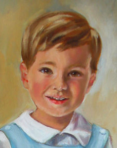 Portrait of Small Boy Oil Portrait