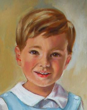 Portrait of Small Boy Oil Portrait