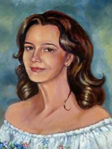 Portrait of a Young Woman Oil Portrait