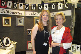 Ruth and Her Assistant, Heidi, at a Recent Bridal Show