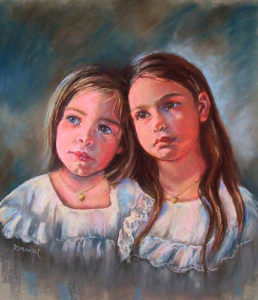 Sisters - Pastel Portrait