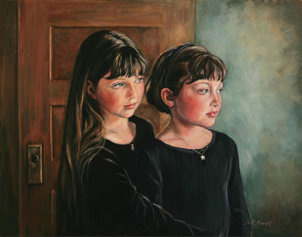 On the Threshold Oil on Linen Portrait