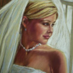Awaiting the Wedding March Pastel Portrait