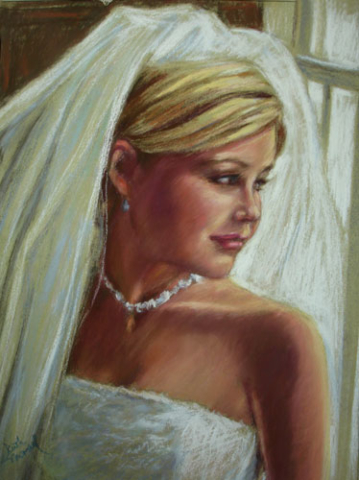 Awaiting the Wedding March - Pastel Portrait