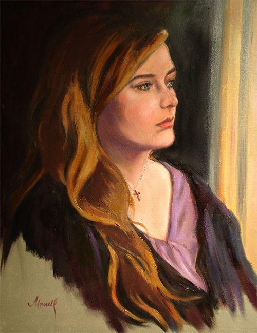 Portrait of a Young Woman Oil Portrait